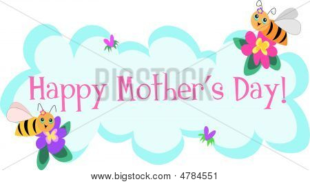 Mother's Day Greetings By Cute Bees