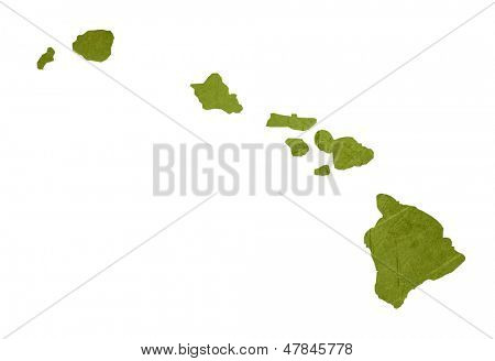 Estado norteamericano de Hawai aislado sobre fondo blanco con trazado de recorte.