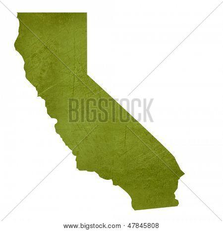 Estado norteamericano de California aislado sobre fondo blanco con trazado de recorte.