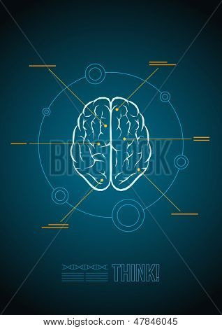 Vector brain infographic template.