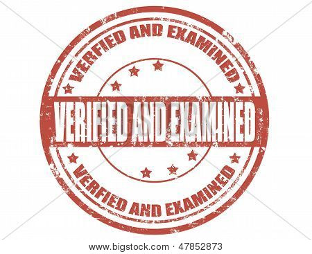 Verified And Examined
