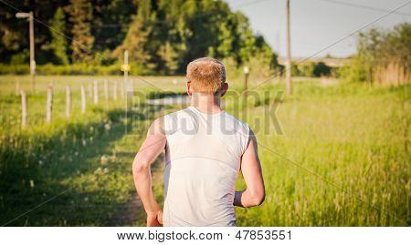 Back Of Running Man