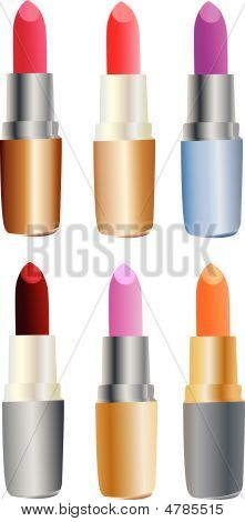 Set Of Colored Lipsticks