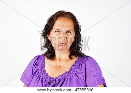 Grumpy Middle Age Woman