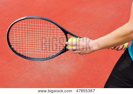 Ready To Serve Tennis Ball