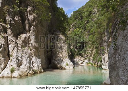 Aheron gorge in Greece