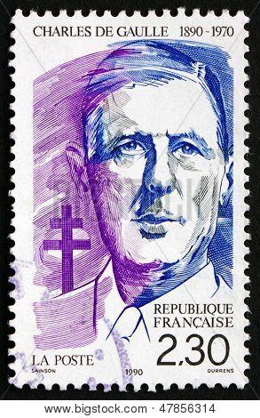 Postage Stamp France 1990 Charles De Gaulle, Statesman, President