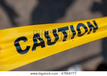 Caution tape. Safety concept