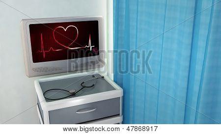 Heart Of Ekg Medical Room