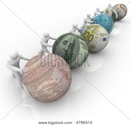 World Currencies In Race For Growth