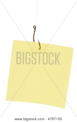Fishing Hook And Notepaper