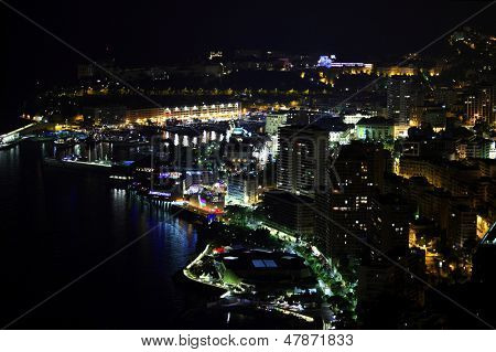 Monte Carlo night scene