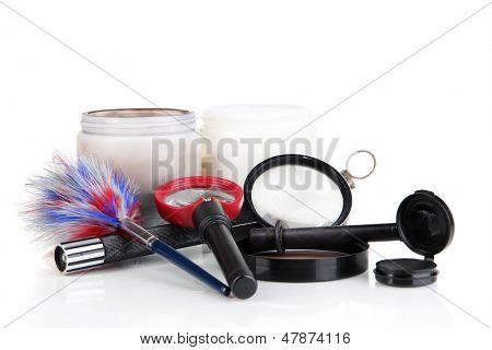 Objects for fingerprint isolated on white
