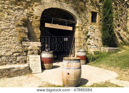 Entrance To The Wine Cellar In The Provence, France