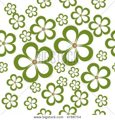 Daisey Floral Seamless Pattern