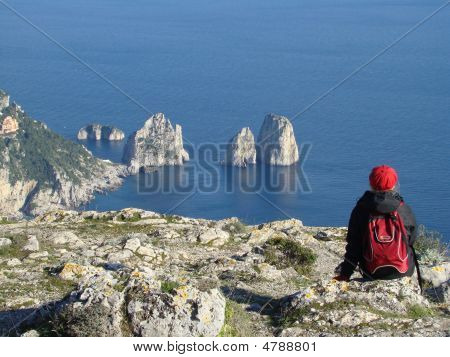 Scenery Of Capri Island