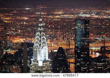 NEW YORK CITY, NY, USA - MAR 30: Das Chrysler Building wurde entworfen vom Architekten William Van Alena eine