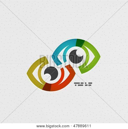 Colorful vector eye paper design
