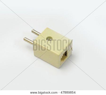 Phone plug closeup