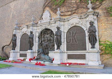 Ypres town war memorial, Belgium