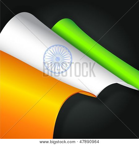 Creative Indian Independence Day or Republic Day background.