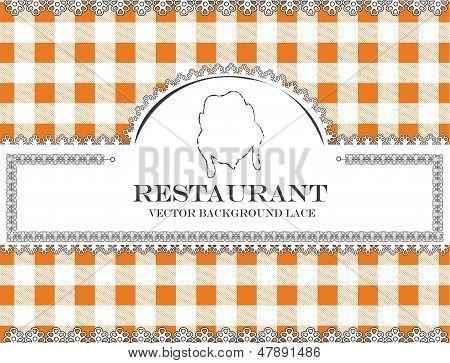 chicken blackboard lace menu restaurant ,cloth pattern vector