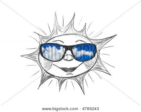 Drawing Sun And Sunglasses