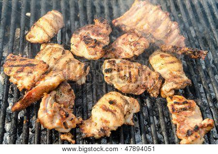 Preparing Barbecue