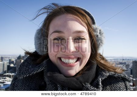 Woman Smiling For Camera