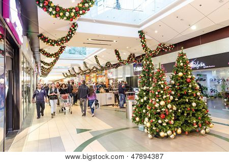People Shopping For Christmas Day