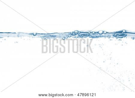 Splash of pure water wave isolated on the white