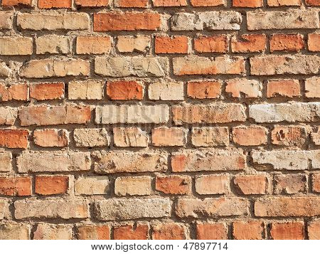 Wall Made Of Bricks Deification