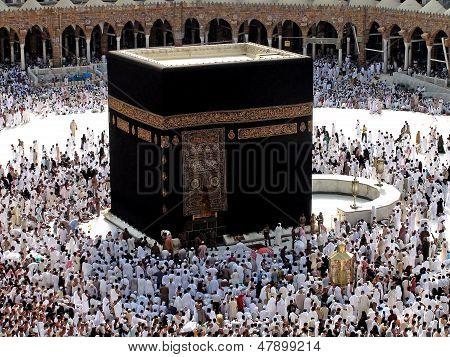 La Kaaba de la Meca Hajj musulmanes
