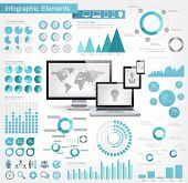 stock photo of pie  - IT Industry Infographic Elements - JPG