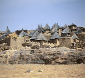 foto of dogon  - Traditional Graineries in Dogon village Doutu Mali - JPG