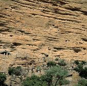 foto of dogon  - Traditional Dogon village Yaye Mali - JPG
