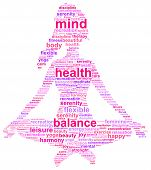 foto of concentration  - Yoga Girl Concept Word Cloud Illustration Vector - JPG