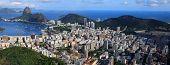 stock photo of ipanema  - Panoramic view of Rio De Janeiro - JPG