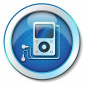 stock photo of beep  - Illustration metallic icon for web isolated - JPG