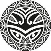 picture of maori  - Traditional Maori Taniwha tattoo design - JPG
