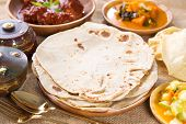 stock photo of flat-bread  - Chapati - JPG