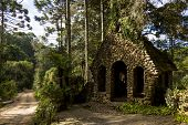 pic of mg  - Small old church made of stone in the forest - JPG
