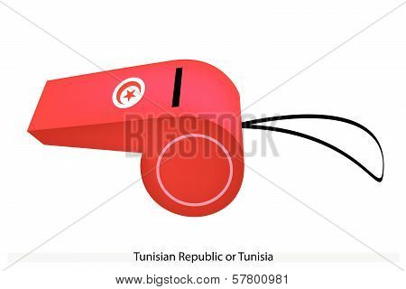 A Whistle Of The Tunisian Republic Flag
