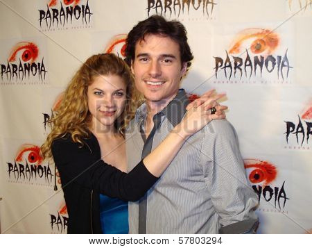 Rebekah Brandes and Daniel Bonjour at the Paranoia Horror Film Festival. Queen Mary, Long Beach, CA. 03-13-09