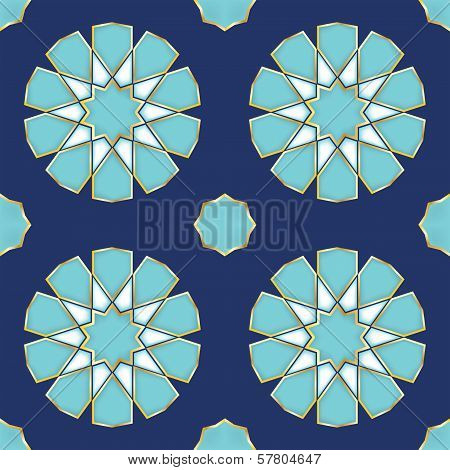 Vector Illustration Of A Turkish Tile