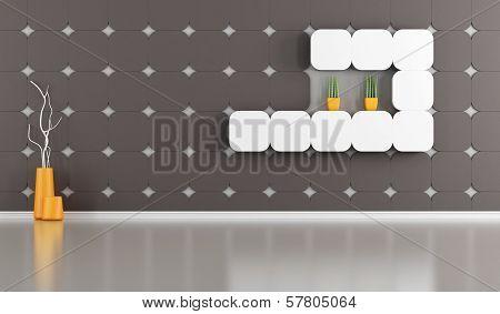 Empty Lounge With Gypsum Panel