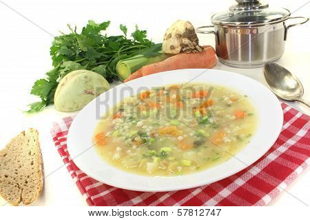 Fresh Delicious Barley Porridge