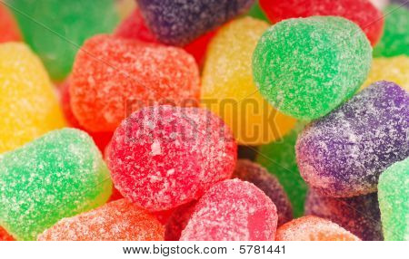 Closeup Of Gumdrops