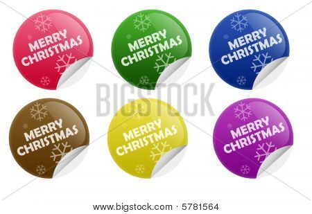 Glossy Merry Christmas Sticker