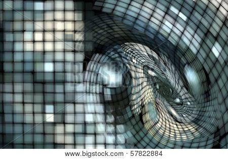 Blue white grunge Grid Background
